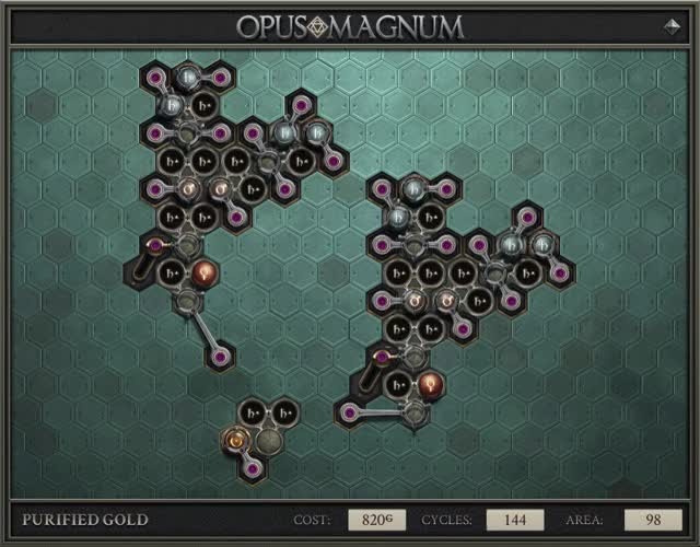 Watch and share Opus Magnum - Purified Gold (820G, 144, 98, 2020-05-10-17-18-57) GIFs by forcen on Gfycat