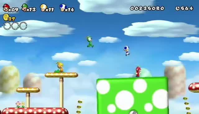 Watch and share New Super Mario Bros. Wii Launch Trailer GIFs on Gfycat
