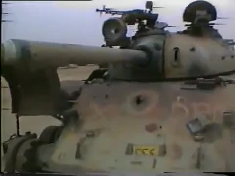 destroyedtanks, militarygfys, tankporn, Glacis penetration - probably APFSDS - of an Iraqi T-55 in a tank graveyard in Kuwait [x/MilitaryGfys] (reddit) GIFs