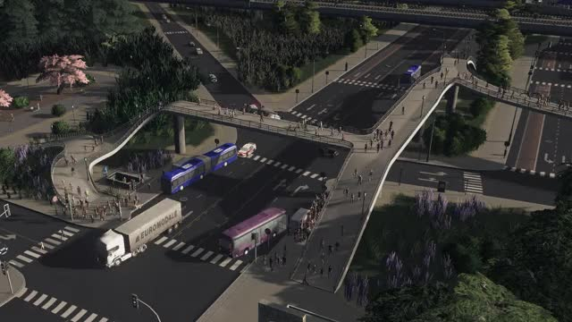 "Watch and share One Of My Busy Metro<->Bus Transfer ""station""; Current City Pop Is Around 12k. (reddit) GIFs on Gfycat"