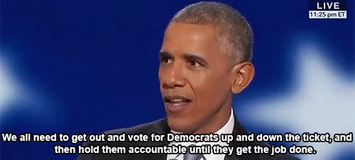 Watch Democratic National Convention GIF by Reaction GIFs (@sypher0115) on Gfycat. Discover more Barack Obama, demconvention, demsinphilly, dnc2016 GIFs on Gfycat