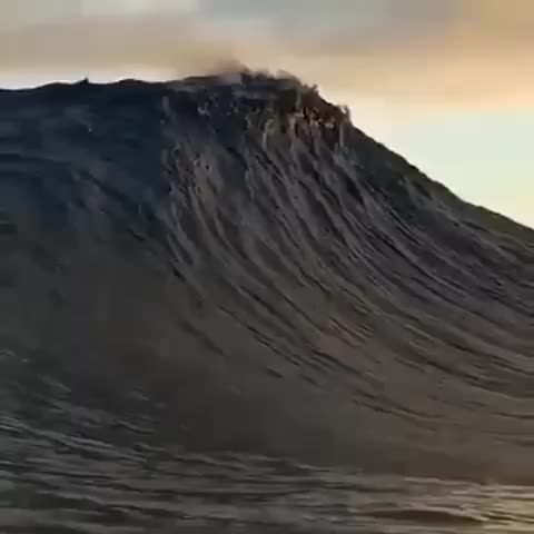 clouds, nature, wave, Wave touches clouds GIFs