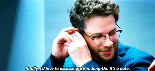 "Watch and share Taika-waititi: "" James Franco & Seth Rogen Attempt To Assassinate Kim Jong-Un In The Interview "" GIFs on Gfycat"