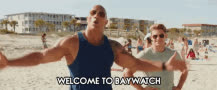baywatch, dwayne johnson, zac efron, The popular Baywatch GIFs