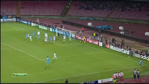 Watch and share Gokhan Inler. Napoli - Marseille. 06.11.2013 GIFs by fatalali on Gfycat