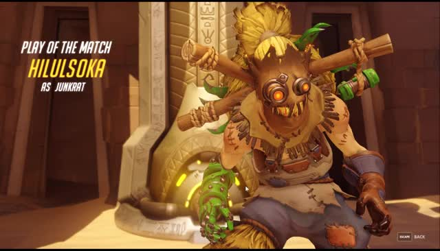 Watch and share Junkrat POTM GIFs by hilulsoka on Gfycat