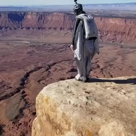 Watch and share Wingsuit GIFs and Cliff GIFs by vovich1994 on Gfycat