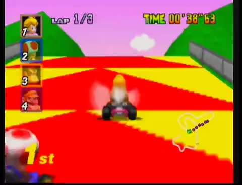 Watch and share Mario Kart 64 - Royal Raceway [N64] GIFs on Gfycat