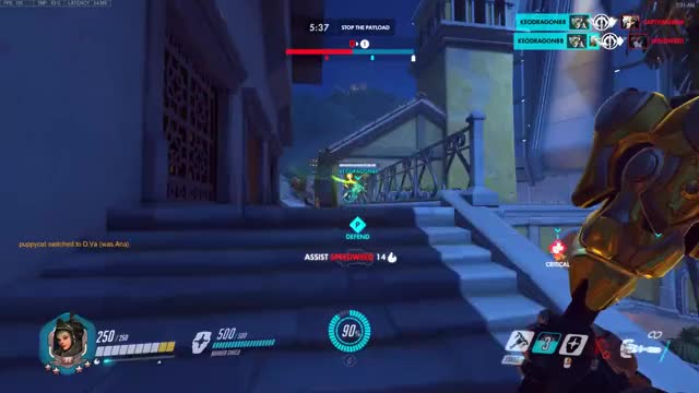 Watch BigMark - Mid air stun GIF on Gfycat. Discover more ana, overwatch GIFs on Gfycat
