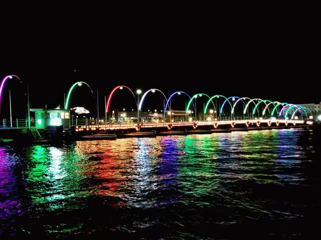 Watch and share 🌉 Bridge At Night  🇨🇼 — Curaçao GIFs on Gfycat