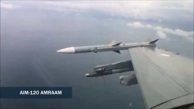 Watch and share Danish F-16 Firing An AIM-120 AMRAAM At A Drone. (reddit) GIFs by forte3 on Gfycat