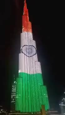 Watch and share Burj Khalifa In Tricolor- Indian Flag GIFs on Gfycat