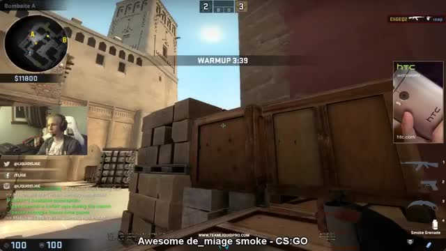 CS:GO - Elige shows a neat trick, how to perfectly smoke off CT spawn if you're stuck at tetris
