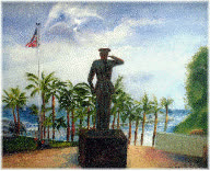 memorial day, Memorial Day San Clemente Marine Monument Art Paintings GIFs