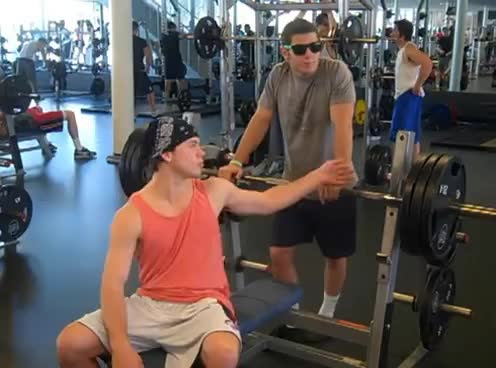 working out, frat life GIFs