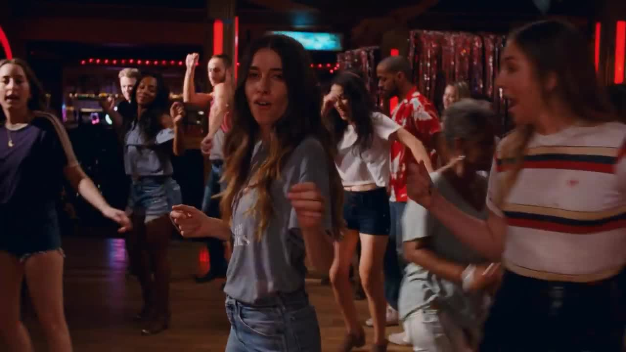 celebrate, contest, dance, dancing, excited, gang, girls, haim, happy, ittle, little, love, nigtht, of, party, saturday, woohoo, yay, yeah, your, HAIM - Little of Your Love GIFs