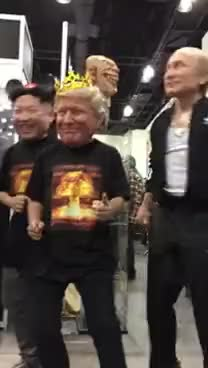Watch and share Kim Jong Un - Donald Trump  - Vladimir Putin (Dance Uptown Funk) GIFs on Gfycat