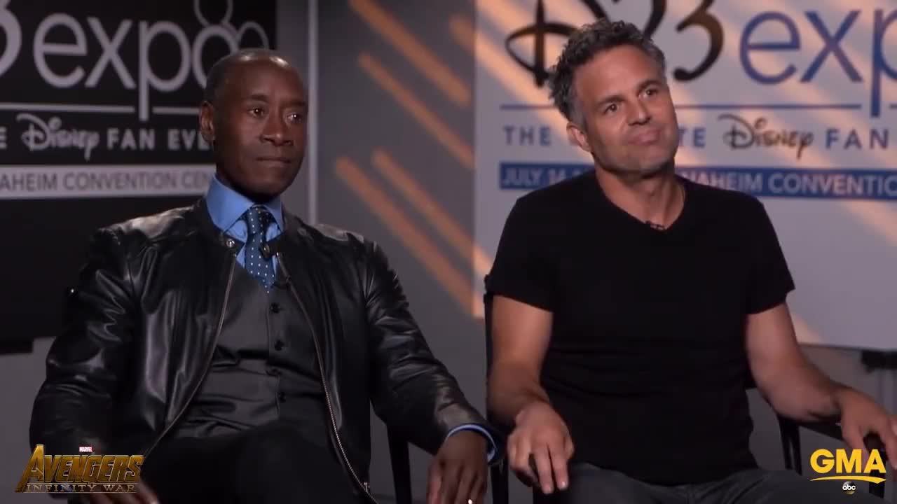 don cheadle, gma, mark ruffalo, Did Mark Ruffalo Accidentally Reveal That Everyone Dies In Avengers Infinity War? GIFs