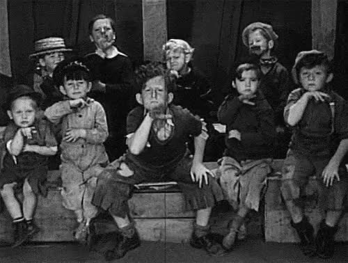Watch and share Spanky Little Rascals High Sign | The Hi Sign To All The New Followers GIFs on Gfycat