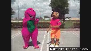 Watch barney and dora dancing GIF on Gfycat. Discover more related GIFs on Gfycat
