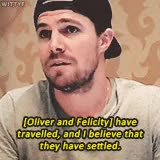 Watch and share Emily Bett Rickards GIFs and Stephen Amell GIFs on Gfycat