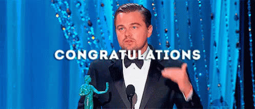 accomplishment, celebrate, congrats, congratulations, good job, great job, leonardo dicaprio, party, way to go, yay, congratulations GIFs