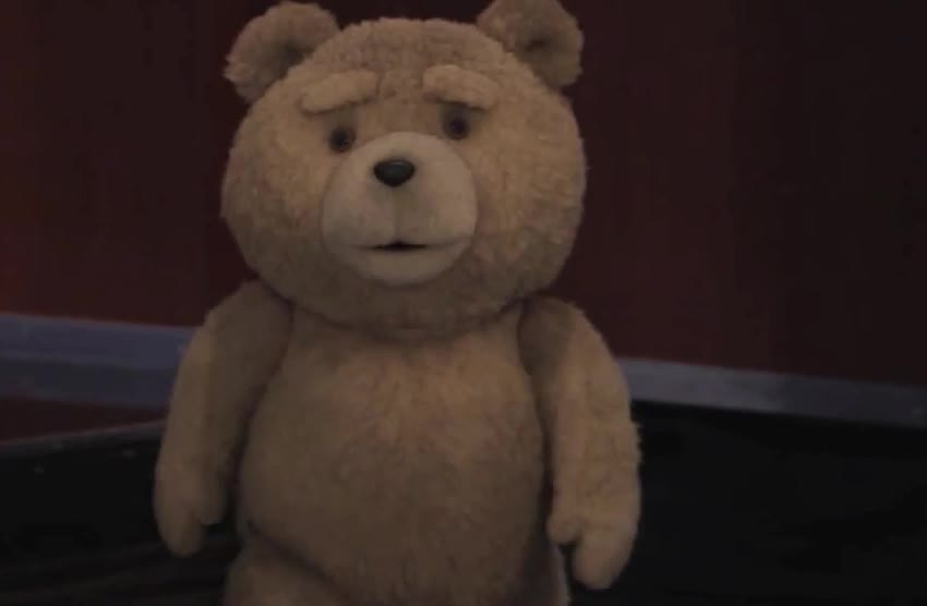 GIF Brewery, bear, cute, hello, hey, hi, jimmy, kimmel, mcfarlane, mean, seth, sweet, ted, teddy, Ted on Jimmy Kimmel GIFs