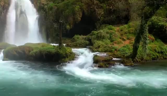 Watch and share Relaxing Music With Nature Sounds - Waterfall HD GIFs on Gfycat