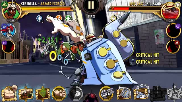 Watch and share Skullgirls Mobile - Gene Therapy GIFs by moisterrific on Gfycat