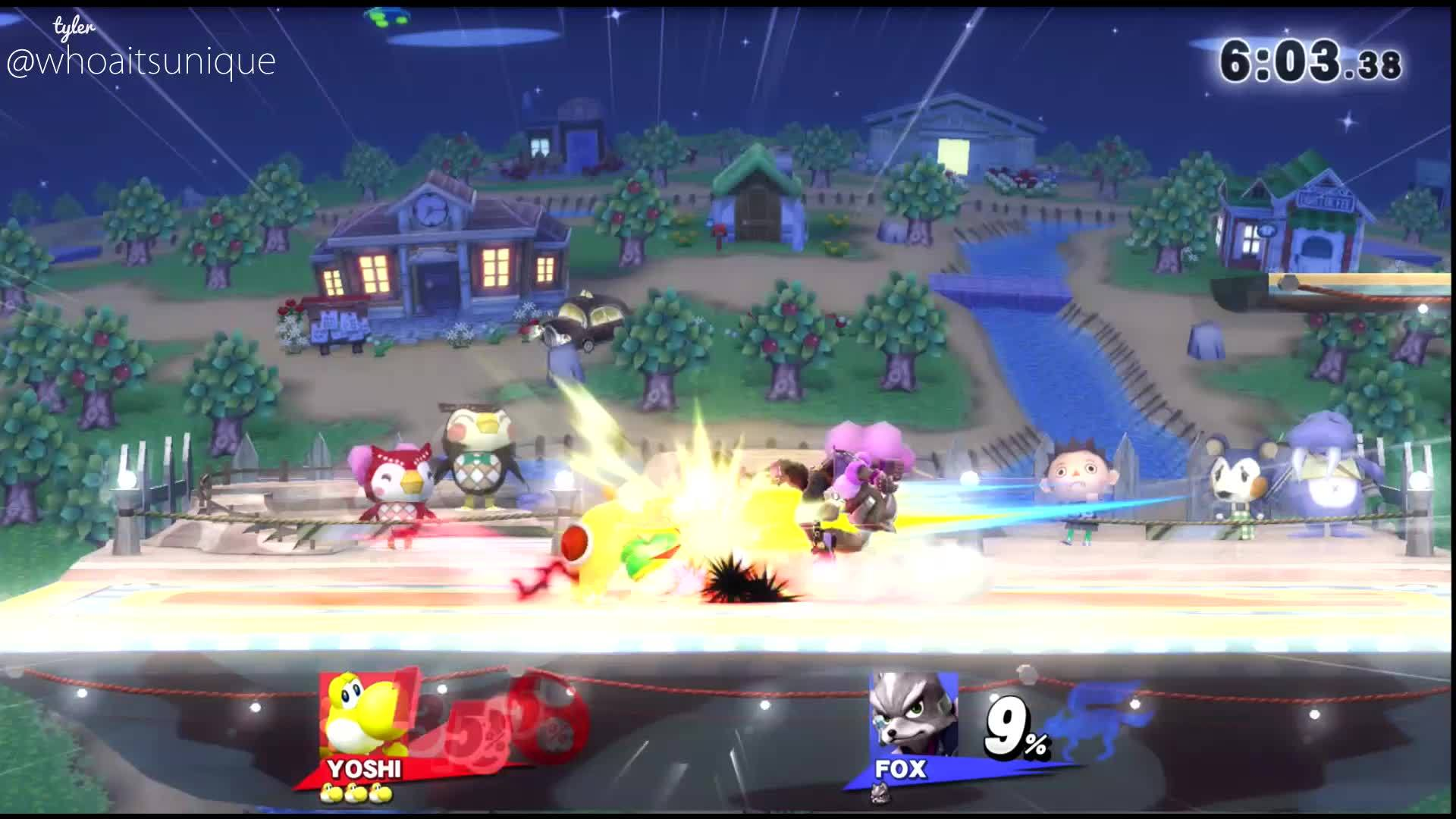 Anther Ladder hype yoshi edgeguard - [anther's ladder] : unique (yoshi) gif keepitunique