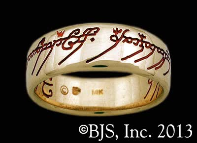 Watch and share One Ring Of Power In Solid Gold - Red Lettering GIFs on Gfycat
