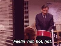 michael scott, steve carell, the office, michael scott, hot, drum GIFs