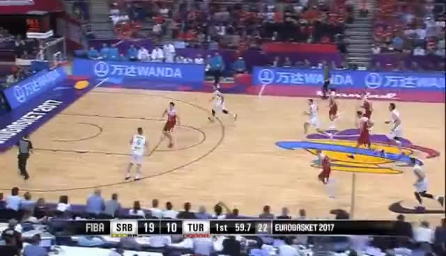 Watch Serbia v Turkey - Highlights - FIBA EuroBasket 2017 GIF on Gfycat. Discover more related GIFs on Gfycat