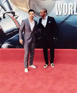 Watch brett and j at the antman premiere (x) GIF on Gfycat. Discover more aos cast, aoscastedit, aosedit, brett dalton, god this took so long to do while watching something on rabbit with my friends, j august richards, mine, they are my everything GIFs on Gfycat
