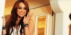 Miley Cyrus waves bye GIFs