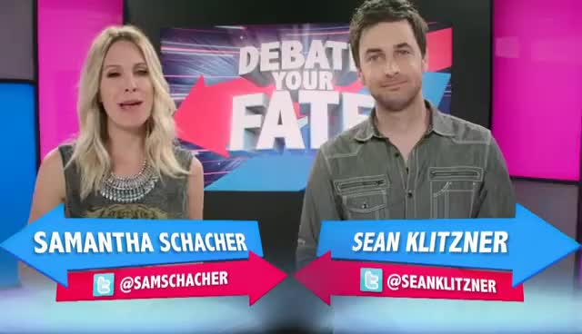 Watch and share Samantha Schacher GIFs and Debate Your Fate GIFs on Gfycat