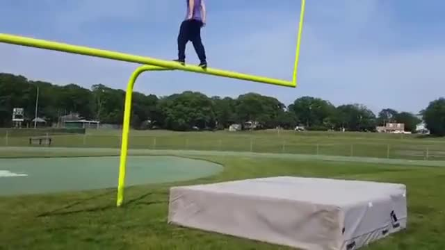 Watch Teen Backflips into Goal Post GIF - Create, Discover and Share on Gfycat GIF on Gfycat. Discover more related GIFs on Gfycat