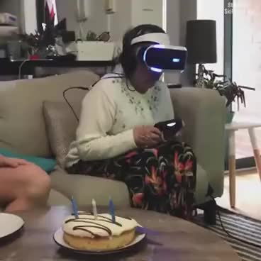 Watch LADbible   Gran didn't enjoy her VR headset 😂😂 GIF on Gfycat. Discover more related GIFs on Gfycat