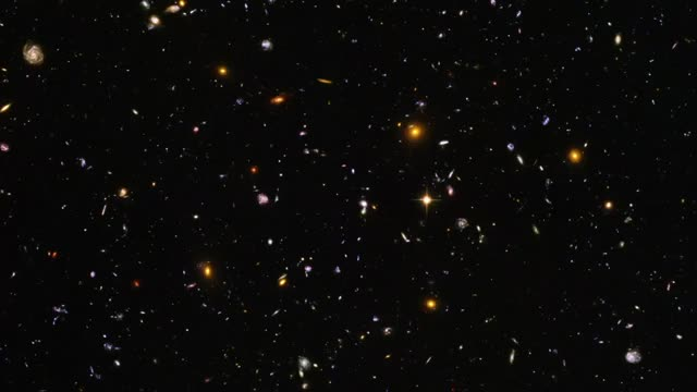 The Hubble Legacy Field mosaic contains over 265,000 galaxies photographed by the Hubble space telescope over a period of 16 years GIFs