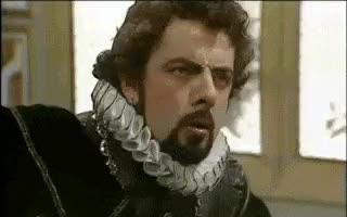 Watch and share Confused, Rowan Atkinson, Blackadder, Medieval, Old School GIFs on Gfycat