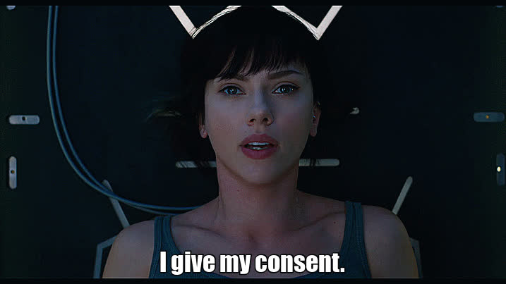 agree, consent, ghost in the shell, ok, okay, pretty, relaxed, robot, scarlett johansson, scarlett_johansson, scarlettjohansson, want, yes, I Give My Consent. GIFs