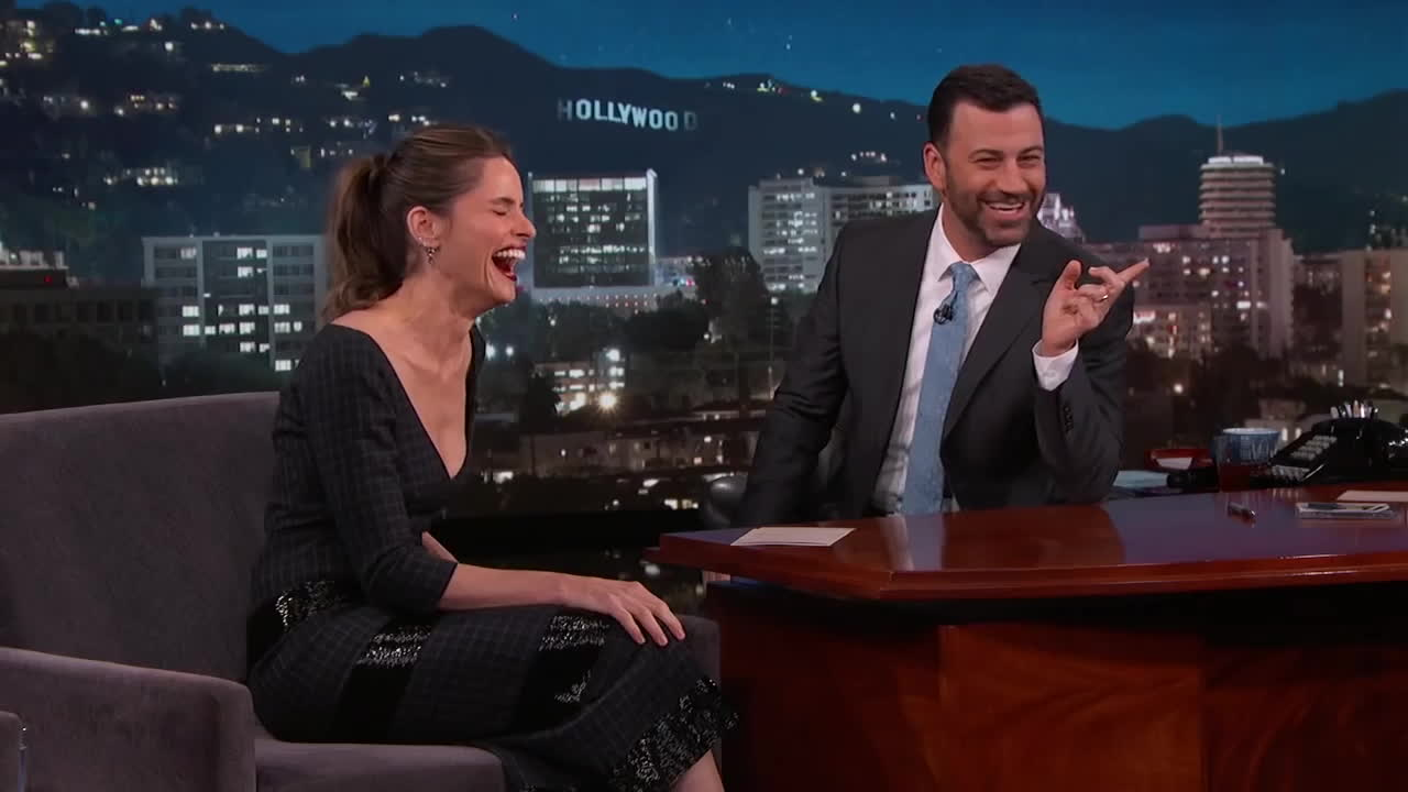 amanda peet, jimmy, jimmy kimmel, jimmy kimmel live, Amanda Peet Imitates Jon Snow GIFs