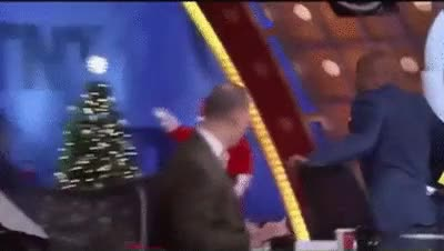 Watch Shaquille O'Neal fighting Christmas tree in TNT Halftime Show (reddit) GIF on Gfycat. Discover more idiotsfightingthings GIFs on Gfycat
