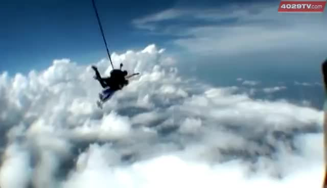 old man skydiving GIFs