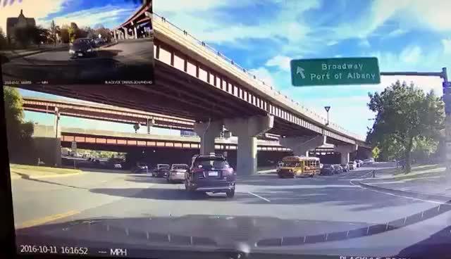 Dashcam BMW crash GIFs