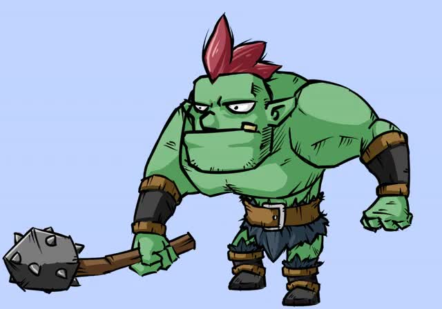Watch and share Orc Idle Animation By XaR623 GIFs on Gfycat