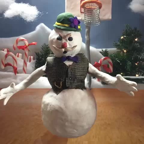 snow man, snowman, Frosty the Snowman was a jolly happy soul! Until LeBron posterized him and melted all his flow. (Ho Ho Hat Tip to Lawrence Becker) GIFs