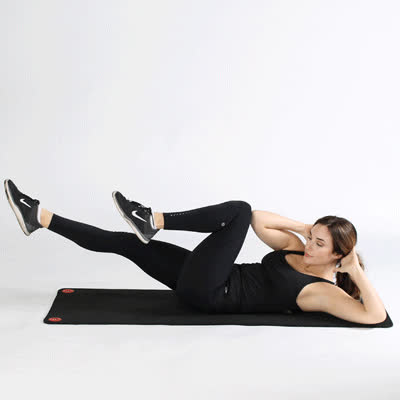 exercise, healthline, work out, 400x400 Bicycle Crunches GIFs