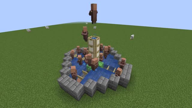 Watch and share Just A Villager-fountain... GIFs by buggy123 on Gfycat