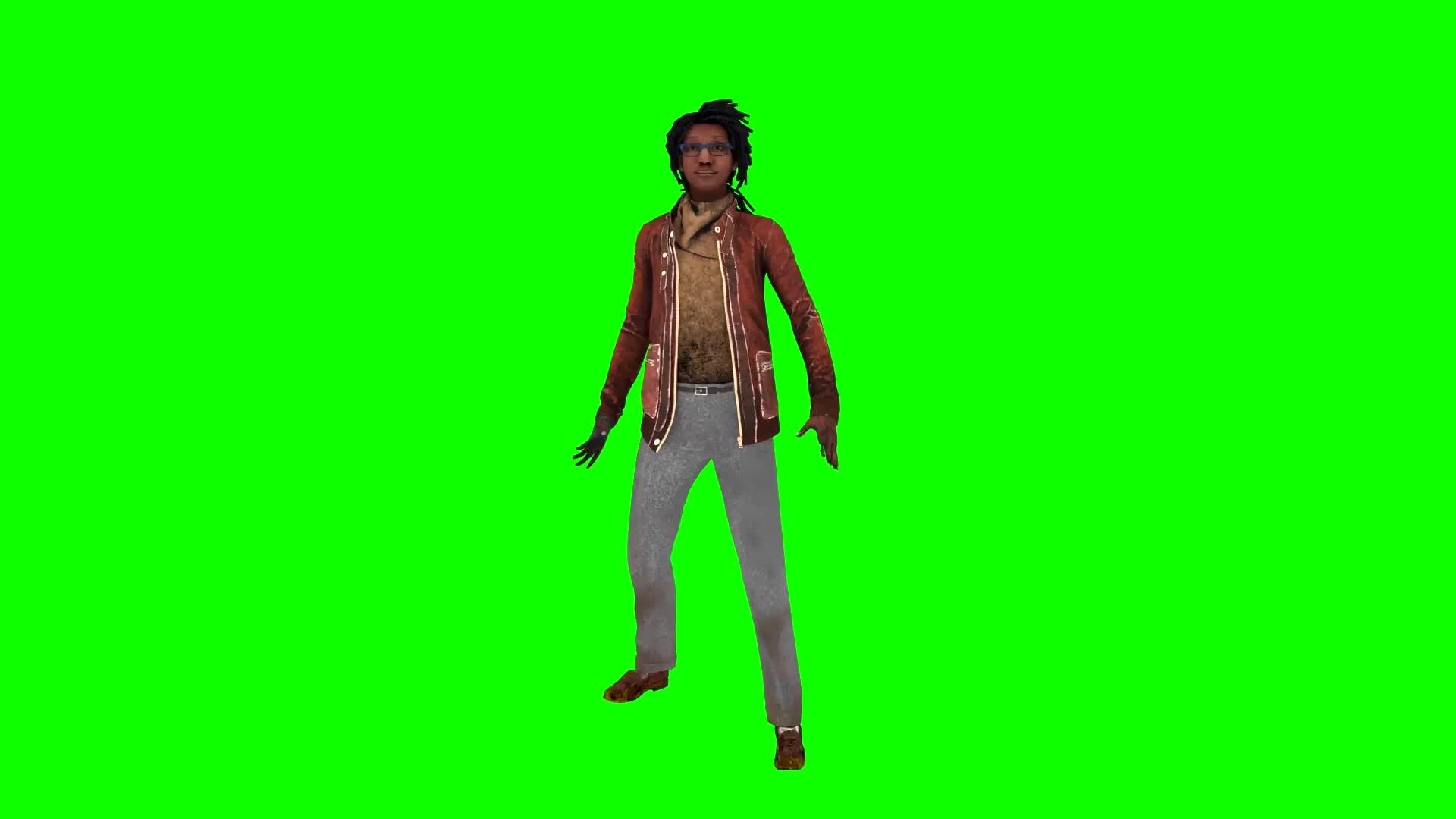 DBD Claudette Fortnite Default Dance Green Screen